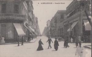 Alexandrie Rosette Street Egypt Otto Huber Antique Postcard