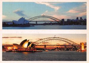 Australia Sydney Opera Bridge Panorama Postcard
