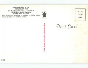 Unused Pre-1980 WELLESLEY INN MOTEL Wellesley Massachusetts MA s2142
