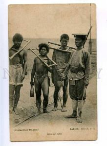 190691 LAOS criminals Khas punishment Vintage postcard