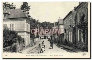 Old Postcard Fervaques Rue de la Poste