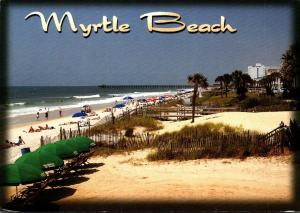 South Carolina Myrtle Beach Ocean Front View 1991