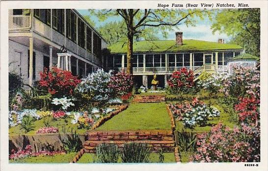 Mississippi Natchez Hope Farm
