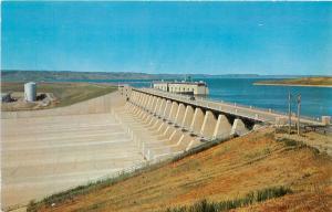 Fort Randall Dam Reservoir PIckstown South Dakota SD Postcard