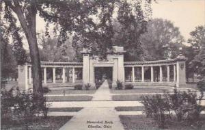 Ohio Oberlin Memorial Arch Oberlin College Albertype