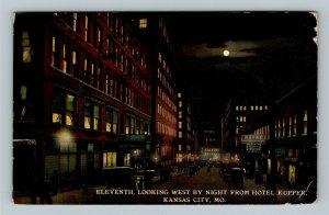 Kansas City MO Hotel Kupper, Moon, Photographer Vintage Missouri c1912 Postcard