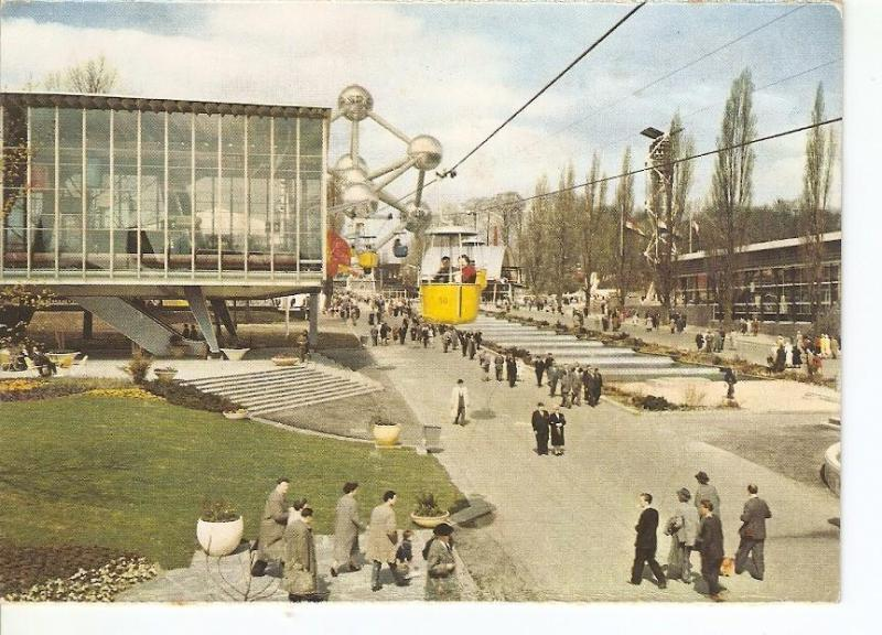 Postal (PostCard) 023825 : Benelux avenue and the Pavilion of Luxembourg