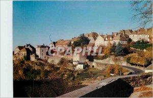 Modern Postcard Saint Benoit du Sault Indre Cite Medievale Panoramic view of ...