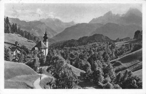 Maria Gern Church FOrest Forest Panorama Postcard