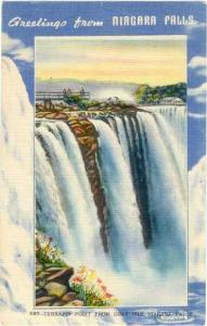 Linen of American Falls Greetings from Niagra Falls NY