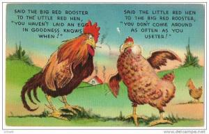 Chickens Smoking Cigarettes While discussing Activities - 40's