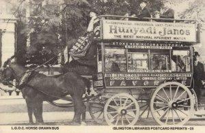 Islington Horse Drawn Bus Postcard