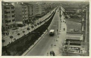 turkey, ANKARA, Yeni Sehir Yenişehir (1940s) RPPC Postcard