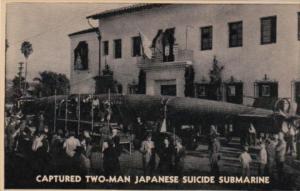 Hawaii Captured Two-Man Japanese Suicide Submarine Captured Off Oahu Island 8...
