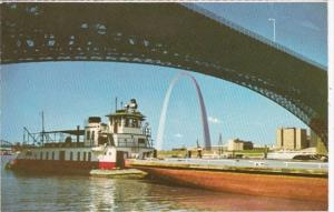 Missouri St Louis Tugboats and Barges Along The Riverfront