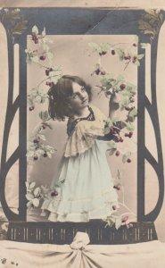 RP: Girl & Flowers , 1910