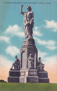 National Monument To The Forefathers Plymouth Massachusetts 1951
