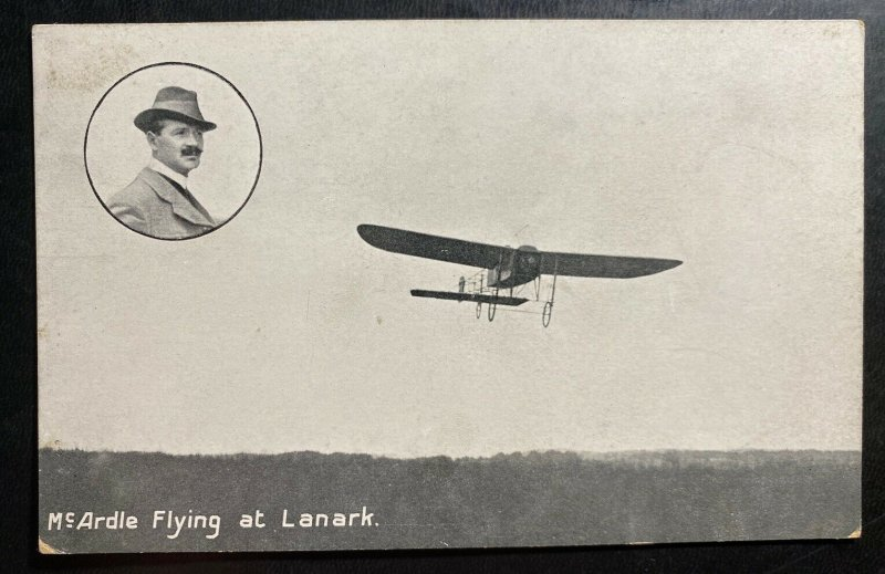Mint RPPC Real Picture Postcard Early Aviation Mc Ardle Flying At Lanark