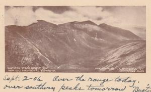 MT. WASHINGTON, New Hampshire, PU-1906; Northern Peaks & Great Gulf from Gulf...