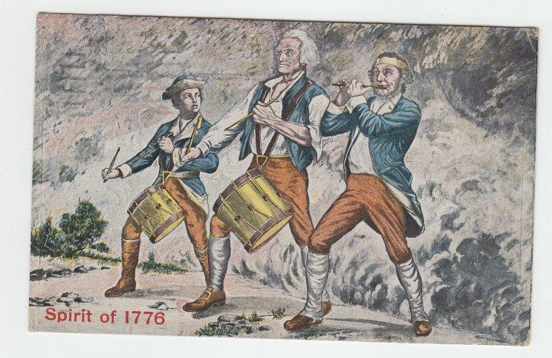 P2066 1919 postcard patriotic the spirit of st louis music drums etc