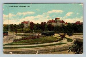 Cleveland OH-Ohio, University Circle, Vintage c1911 Postcard