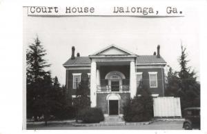 Dalonga Georgia Court House Exterior Real Photo Antique Postcard J73854