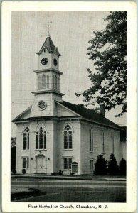 Glassboro, New Jersey Postcard First Methodist Church Building / Street View