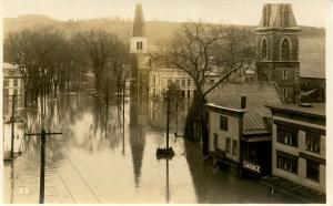 VT - Montpelier. Flood, November 3-4, 1927. Main St   *RPPC