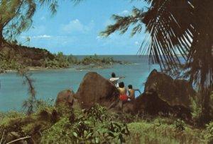 Seychelles Port Launey Mahe 1970s Postcard