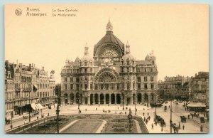 Antwerp Belgium~Flemish Region~Central Railroad Depot~La Gare Centrale~c1910