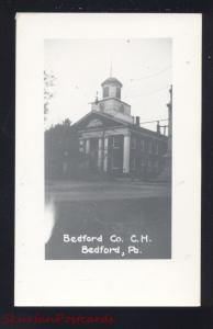 RPPC BEDFORD PENNSYLVANIA COUNTY COURT HOUSE VINTAGE REAL