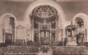 Organ & Interior Guildford Surrey Church Antique Postcard