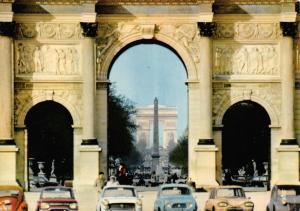 Vintage Postcard, PARIS, The Trumphal Arch, Classic Cars, France B59