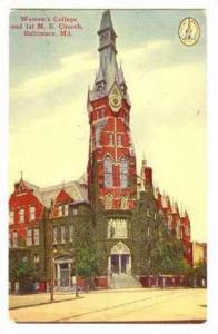 Women's College and 1st M.E. Church, Baltimore, Maryland,PU- 00-10s