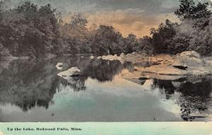 Redwood Falls Minnesota Up The Lake Waterfront Antique Postcard K77746