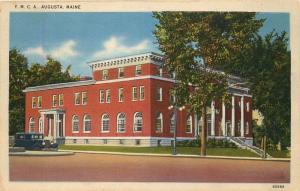 Augusta, Maine, ME, Y.M.C.A., White Border Antique Vintage Postcard e2240