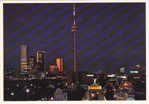Canada Downtown At Night Toronto Ontario