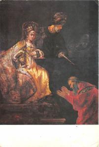B48373 Rembrant van Rijn Haman begging Esther´s Forgiveness painting reproductio