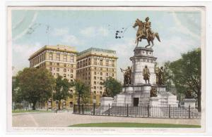 Hotel Richmond George Washington Monument Richmond Virginia postcard