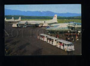 166172 USSR Russia SOCHI ADLER Airport Plane old postcard