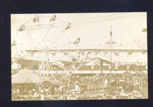 RPPC PUYALLUP WA. WESTERN WASHINGTON FAIR CARNIVAL RIDE REAL PHOTO POSTCARD