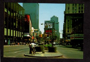NY Times Sq Square Sony Coke Coca Cola Sign Theater New York City NYC Postcard
