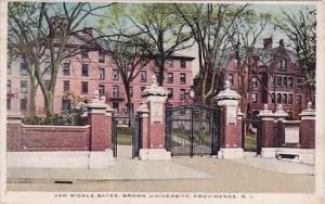 Rhode Island Providence Van Wickle Gates Brown University