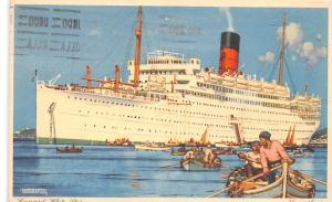 White Star Line Cunard Ship Post Card, Old Vintage Antique Postcard Carinthia...