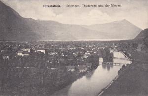 INTERLAKEN, Switzerland, 1900-1910´s; Unterseen, Thunersee Und Der Niesen