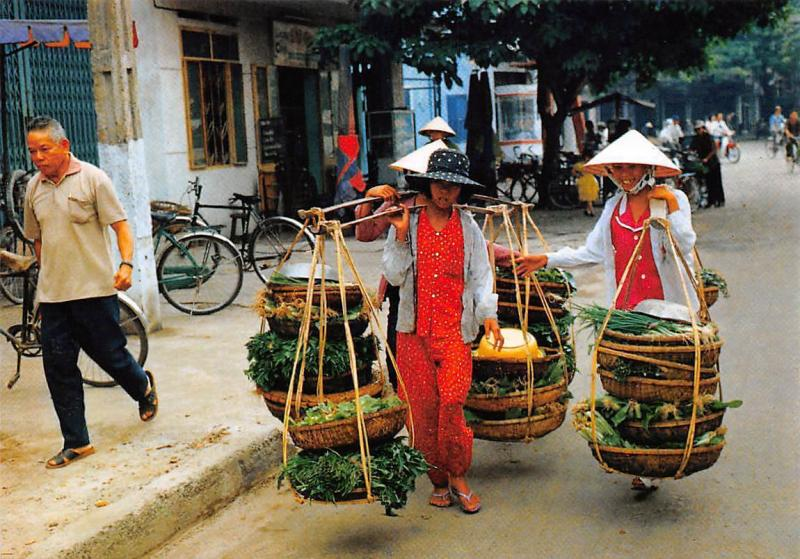 Vietnam Cuoc song doi thuong Fresh greens Da Nang Legumes Bicycles