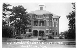 Kingston Missouri Caldwell Court House Real Photo Antique Postcard K28647