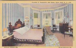 New York Hyde Park Franklin D Roosevelt's Bedroom Roosevelt National Historic...