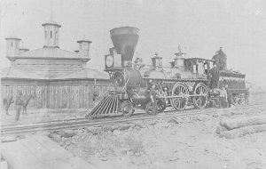 Civil War Post Cards Civil War picture engine grants military railroad Unused