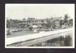 RPPC FORT FT. LAUDERDALE FLORIDA EDGEWATER APARTMENTS REAL PHOTO POSTCARD